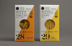Gluten free pasta packaging design by Lo Siento Studio.