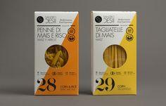 Gluten free pasta packaging design by Lo Siento Studio.