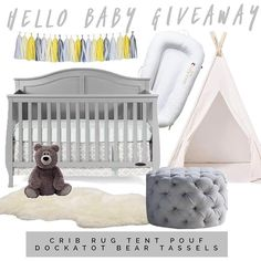 Go to --> @sewn_cute_creations next  Want to win this dreamy nursery? We've teamed up to spoil one lucky follower with a crib teepee pouf bear shag rug tassels and dockatot!  To Enter: 1. Follow me 2. Like this post. 3. Head to the account mentioned in first line 4.Optional: COMMENT that one snack you just can't resist!  Follow the steps above until you make it back here. Prizes not exchangeable or redeemable for cash. Open internationally but will be responsible for Int'l shipping  costs…