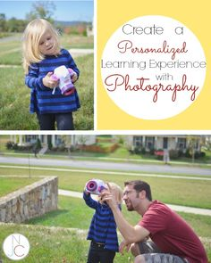 How to turn photography into a personalized learning opportunity with your kids!  Great suggestions for using photography to teach new concepts to children!