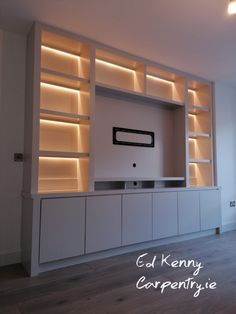 Stunning Contemporary Alcove units Carpentry Services, Flat Ideas, Bespoke Furniture, Alcove, The Hamptons, Cabinets, The Unit, Fire, Contemporary