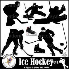 Ice Hockey set 1 INSTANT DOWNLOAD digital by IrrationalArts, $4.95