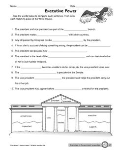Worksheet: executive branch of government                                                                                                                                                                                 More