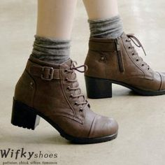 Buy 'Wifky – Faux-Leather Lace-Up Boots' at YesStyle.com plus more South Korea items and get Free International Shipping on qualifying orders.