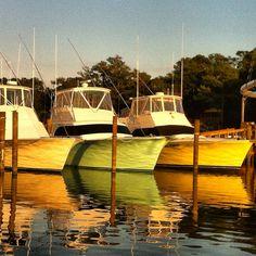Boats at sunset. Emerald Isle NC