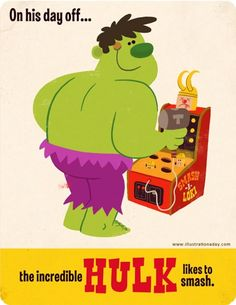 Hulk on his day off