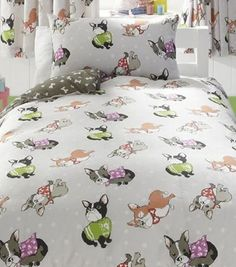 Cliab Dog Print Bedding Twin 100% Cotton Duvet Cover Set 5 Pieces | Duvet  Covers For Dog Lovers | Pinterest | Duvet, 100 Cotton Duvet Covers And  Cotton ...