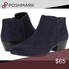 Sam Edelman petty blue suede bootie 5.5 Good condition. Does not include the original box. Side zipper entry. Leather upper. Sam Edelman Shoes Ankle Boots & Booties
