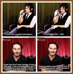 Norman Reedus - Daryl Dixon and Andrew Lincoln - Rick Grimes - AMC's The Walking Dead Cast