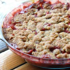 Early Summer Strawberry Rhubarb Crumble  - Andrew Zimmern Rhubarb on Food & Wine