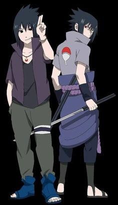 Sasuke in Road to Ninja & normal Sasuke. #naruto