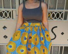 African Clothing Purple Dashiki SkirtAfrican by MsAlabaAfricanShop