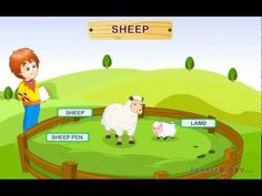 In this video, kids learn about the different farm animals, their babies and their homes. For more educational games and videos visit www.turtlediary.com