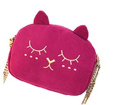 New Trending Make Up Bags: XMLiZhiGu Womens Fashion Anaimal Shoulder Crossbody Chain Gold Velvet Cute Cats Bag Rose Red. XMLiZhiGu Women's Fashion Anaimal Shoulder Crossbody Chain Gold Velvet Cute Cats Bag Rose Red  Special Offer: $19.99  300 Reviews You can choose your favorite color.If you want to know more about our product,please contact us,we'd love to help you.Cute animal cat...