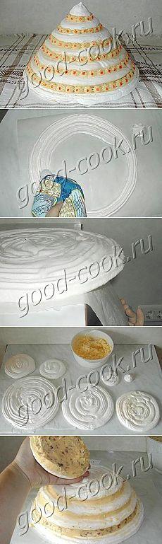 Хорошая кухня - свадебный торт-безе. Кулинарная книга рецептов. Салаты, выпечка.