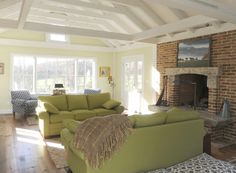 Beautiful ceilings and fireplace in this Butler home