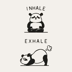 Inhale Exhale Panda Bangkok-based Chalermphol Harnchakkham is a self-taught illustrator whose unique work is inspired by Pug, French bulldog, Fitness and Dream. Chalermphol creates art to express himself and enjoys making people smile with his artwork. Funny Doodles, Cute Doodles, Cute Doodle Art, Panda Wallpapers, Cute Wallpapers, Cute Panda Drawing, Cute Panda Cartoon, Funny Quotes, Funny Memes