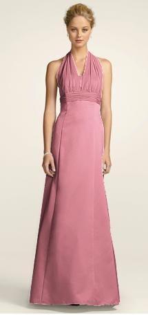 or rose petals long dress (bridesmaid)