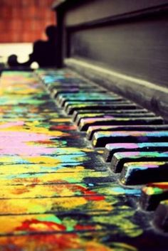 Finger paint piano? I bet it would be fun to put paint on my fingers and play, but I don't really want to have to buy a new one. :P