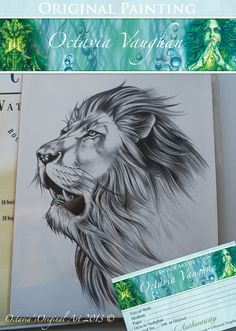 Lion Original Sketch by Lunarianart, £110.00