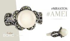 Nossa Linha Boho M Bastos & CO deixará você ainda mais linda e elegante! O Anel Flor com marcassitas combina com todos os estilos. E certamente irá combinar com você! Adquira agora: http://mbastosjoias.com.br/