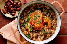 Roast Chicken With Couscous, Dates and Buttered Almonds Recipe - NYT Cooking