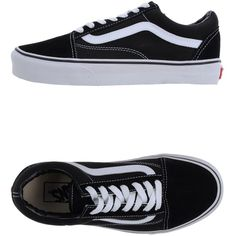 Vans Trainers (€70) ❤ liked on Polyvore featuring shoes, sneakers, vans, zapatos, black, vans sneakers, black rubber sole shoes, vans shoes, black leather trainers and black shoes
