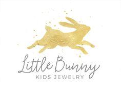 Kids Shop Logo, Cute Jewelry Logo, Cute Gold Logo, Gold Shop Logo, Gold Bunny Logo, Gold Rabbit Logo, Kids Etsy Shop Logo, Pre-Made Logo by CoffeeandInkDesign on Etsy https://www.etsy.com/listing/482780164/kids-shop-logo-cute-jewelry-logo-cute