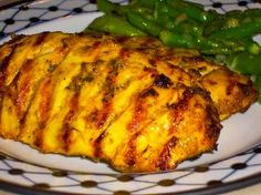 Recipe for Curried Chicken on the Grill (with Cilantro Chutney) from Kalyn's Kitchen