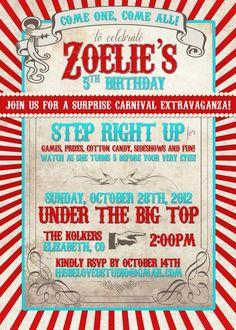 Zoelie's Birthday Invitation, designed by Facebook.com/hisbelovedstudio  Amazing  personal and custom invitation!