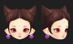 ArtStation - 3D_Elf little girl face (handpainted), Joker Y