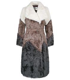 Шуба из меха козлика с поясом VIRTUALE FUR COLLECTION 151238000 купить в интернет-магазине Снежная Королева