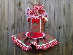 Custom gingerbread girl pageant tutu dress costume ooc winner ze 18 months 24 mos 12 m 2T 3T 4T 5