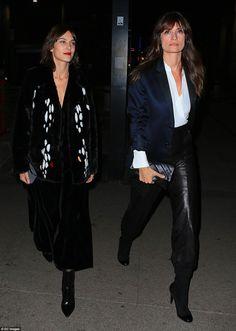 In stylish company: Alexa Chung and Caroline de Maigret - February 25, 2016 - Milan Fashion Week