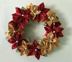 How to make a flower garland out of ribb b... | Sewing Ideas - Find out more about EchoLin161286296'sSewing project How to make a flower garland out of ribb on Craftsy! - via @Craftsy