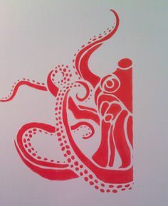 octopus wall stencil - Google Search
