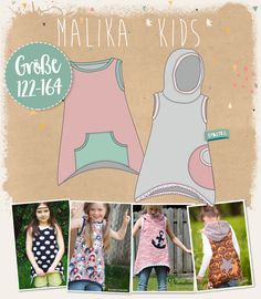 "Lybstes.  Mullet Hoody pattern ""Malika"" for kids!  sew summer shirt itself"