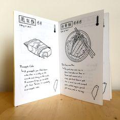 Things I Ate: Taiwan Edition 2015 – An Illustrated Food & Travel Zine Gouache Illustrations, Minimalist Bullet Journal, Recipe Book Design, Cookbook Design, Art Zine, Posca Art, Design Poster, Publication Design, Book Layout