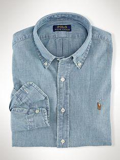 Slim-Fit Chambray Shirt - Oxford shirts Casual Shirts - Ralph Lauren France
