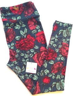 LuLaRoe *UNICORN* ROSES Leggings Tall & Curvy HARD 2 FIND Yoga NWT FLOWER FLORAL #LuLaRoe