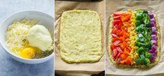 Rainbow Cauliflower Crust Pizza Recipe