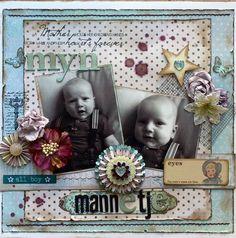 Mijn mannetje - Scrapbook.com - #scrapbooking #layouts #baby #epiphanycrafts