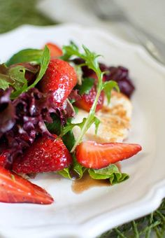 Strawberry and Almond Salad.  Make it now, thank us later!  From www.kiefferscooks.com