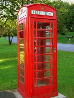 british telephone booths | English RED Telephone Booth. | I See Red!