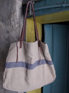 4Corner Extra Large Recycled Canvas and Leather Tote by Superfield, $125.00