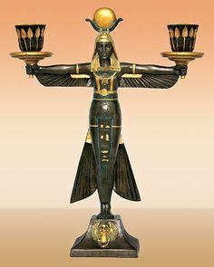 Art Deco Isis candleholder