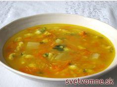 Jesenná zeleninová polievka Thai Red Curry, Ethnic Recipes, Soups, Peeling Potatoes, Eat Lunch, Kochen, Food Food, Chowders, Soup