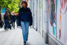 The Best Street Style From Stockholm Fashion Week Model Street Style, Street Style Looks, Stockholm Fashion Week, Models Off Duty, New York Street, Cool Street Fashion, Star Fashion, Kimono Top, Denim