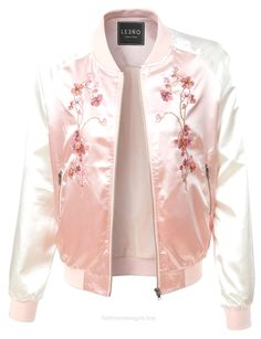 LE3NO Womens Lightweight Satin Floral Embroidery Zip Up Bomber Jacket…  http://www.fashiondesigns.top/2017/07/19/le3no-womens-lightweight-satin-floral-embroidery-zip-up-bomber-jacket/