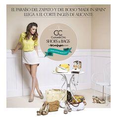 ¡Os anunciamos que Custom&Chic participará en el mayor evento nacional de calzado Made in Spain! ¡Visítanos y diseña tus propios zapatos en el corner más espectacular de El Corte Inglés de Alicante!